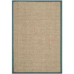 Safavieh Hand-woven Natural Fiber Natural/ Light Blue Seagrass Rug (9' x 12')   Overstock™ Shopping - Great Deals on Safavieh 7x9 - 10x14 Ru...