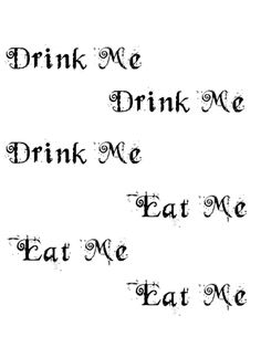Alice In Wonderland Tea Party Free Printables The Handmade Home Jpg 236x305 Eat Me Drink Templates
