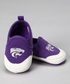 Baby girl needs these! Purple Kansas State Bootie by Campus Footnotes on #zulily today!