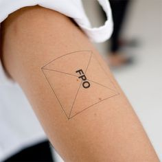 FPO Temporary tattoo.  Love it.