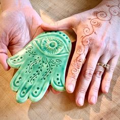 Hey peeps. It's been a rough week. I wish you all a peaceful, healthy weekend. Be kind and stay safe out there. #hamsa #handoffatima #handofgod #evileye #protection #protectyourself #oldworld #henna #hand #handmade #peace  #everythingistemporary Everything Is Temporary, Hand Of Fatima, Stay Safe, Hamsa, Clay Crafts, Fern, Old World, Peeps, Wish