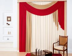 20 Hottest Curtain Designs for 2017 Red Living Room Decor, Modern White Living Room, Living Room Decor Curtains, Christmas Living Rooms, Diy Room Decor, Red And White Curtains, Red Curtains, Curtain Designs, Curtain Ideas