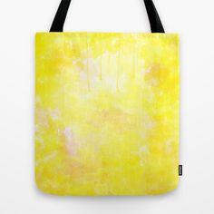 Wateryellow Tote Bag by Escrevendo e Semeando - $22.00