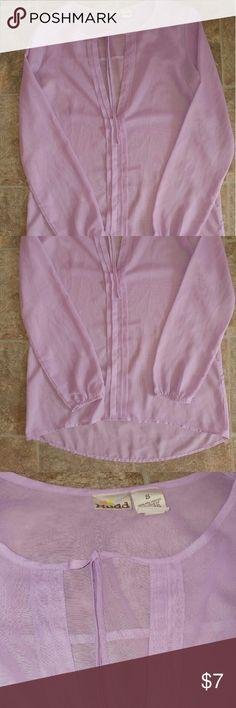 🔸Sheer Light Purple Long sleeve Top Sheer Light Purple Long sleeve Top Has a light sparkle Must see Mudd Tops Blouses