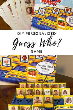 DIY Personalized Guess Who_ Game - a fun and easy way to make this game personal. It's a great gift and a fun way to make memories. Diy Christmas Gifts, Family Christmas, Christmas And New Year, New Years Party, Christmas Traditions, Gifts For Him, Crafts For Kids, 1, Memories