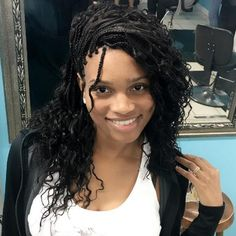 Side Swept Micro Braids With Curls # small Braids with curls 40 Ideas of Micro Braids and Invisible Braids Hairstyles Box Braids Hairstyles, Braids Hairstyles Pictures, French Braid Hairstyles, My Hairstyle, Hair Pictures, Black Hairstyles, Hair Updo, Hairdos, 40s Hairstyles