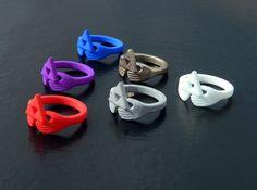ZELDA Triforce Claddagh rings in Strong & Flexible Nylon & Steel  http://www.shapeways.com/shops/playonly