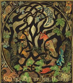 celtic art myth and symbol jen delyth creates original celtic art ...