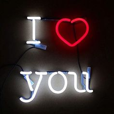 I love you... neon sign
