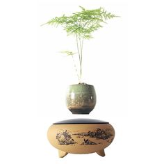 2017 japanese levitating potted magnet ceramic floating pot air bonsai gift (no plant) for free shpping - free shipping worldwide
