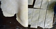 Gluten Free won ton wrappers - all purpose GF flour, xanthan gum (omit if flour already has it), egg & egg white & warm water
