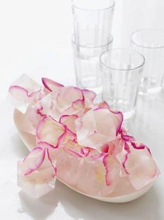 Rose Petal Ice Cubes - #ValentinesDay #sweetpaul