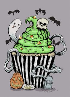 Every day is Halloween isn't it? For some of us..., spookyshouseofhorror:   Zombie Cupcake