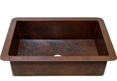 "Cucina Undermount Kitchen Copper Sink - Single Basin - 33 x 22 x 10.5"" - KS002CV"