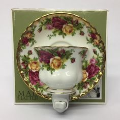 Royal Albert Old Country Roses Teacup & Saucer Night Light by Mad Hatter    eBay