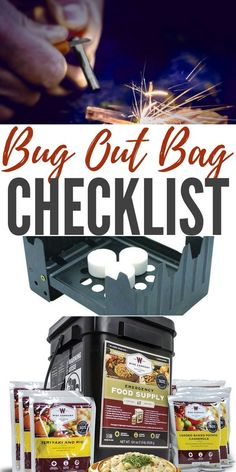 Bug Out Bag Checklist — A Bug Out Bag is usually designed to get you out of an emergency situation and allow you to survive self-contained for up to 3 days. Build one today! Survival Supplies, Emergency Supplies, Survival Food, Survival Knife, Survival Prepping, Survival Skills, Survival Equipment, Emergency Planning, Emergency Preparation