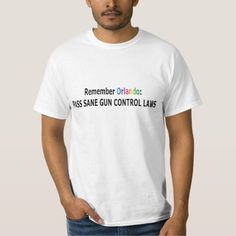 In response to the heartbreaking loss of so many LGBT brothers and sisters in Orlando on June 12, wear this tee-shirt.  Until we get long-overdue stricter gun control laws passed, these atrocities will continue. No one needs automatic or semi-automatic weapons to hunt or protect their families, and if you can wait for a marriage license you can sure as hell wait for a gun permit and background check…