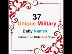 Unique Military Baby Names Perfect For Girls And Boys Unique Baby Boy Names, Baby Girl Names, Islamic Baby Names, Army Baby, Military Girl, Boys, Girls, Paradise, Youtube