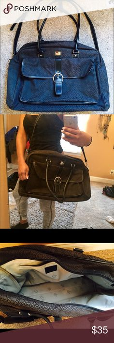 Black carry on Nine West ! Black monogram carry on! Good condition. Used about 3 times on plane. I love it! Just got a new one for my bd so I am selling this one :)) offers accepted Nine West Bags Travel Bags