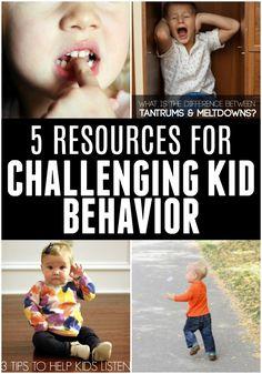 5 Resources For Challenging Kid Behavior!