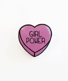 Girl Power - Anti Conversation Heart Pin Brooch Badge