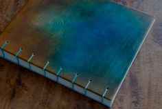 25 x 30 cm, coptic bookbinding Leather Photo Albums, Handmade Books, Leather Journal, Bookbinding