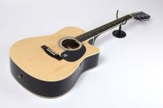 Lindo Natural Cutaway Acoustic Guitar and Free Gig Bag