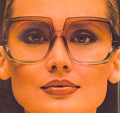 1970s Sunglasses Advert from Vogue--I would wear this shit today, including the makeup!
