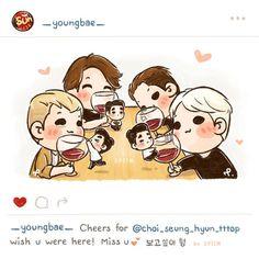 "[fanart] #BIGBANG ""wish u were here!, #TOP"""