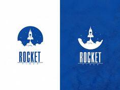 Rocket Fiber designed by Mario Milojevic. Logo D'art, Typography Logo, Art Logo, Logo Fruit, Logo Voyage, Cosmos Logo, Dream Logo, Inspiration Logo Design, Rockets Logo