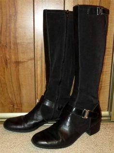 0fd57a6cc6 Leather Medium (B, M) Riding, Equestrian 6.5 Boots for Women   eBay.  Etienne AignerBlack ...