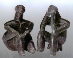 'The Thinker' of Hamangia: A Modern Statue of the Neolithic Natural Stills, Clay Figurine, Ancient Art, Archaeology, Art History, Sculptures, Wikimedia Commons, Romanian Flag, Prehistoric Period