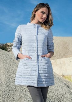 Woman's eider-down Linda's mod.4009. The colour is light blu as a sky! Visit our site: www.lindas.it  #jacket #eiderdowns #downjacket #women #girl #newcollection #spring #summer #fashion #fashionstyle #bonton #girly #romantic #italianstyle #fashionwoman #jackets #musthave #pinterest #jacketwoman #followus