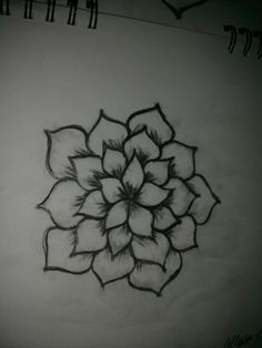 Tattoo flower design sketches how to draw 68 ideas for 2019 Tattoo flower design sketches how to draw 68 ideas for 2019 Easy Pencil Drawings, Easy Flower Drawings, Flower Art Drawing, Cute Easy Drawings, Flower Sketches, Mandala Drawing, Art Drawings Sketches, Doodle Drawings, Easy To Draw Flowers