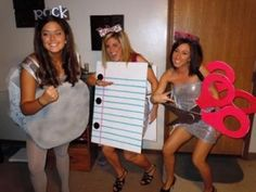 So maybe not so short.. but never thought of dressing up like school supplies for Halloween!  Might just do this this year. =)