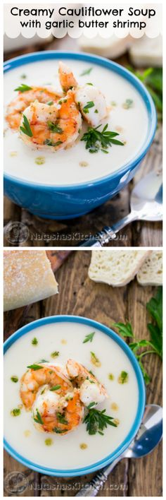 This creamy cauliflower soup is amazing! It will definitely WOW your dinner guests. Tastes like gourmet, but it's easy to make! @natashaskitchen