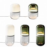 The beautiful Demi Lamp by Mattias Stenberg from Design House Stockholm is a glass sculpture illuminated from the inside, highlighting the brilliance of the mouth-blown glass and creating a warm ambient light. The two glass parts are made by hand using tr…
