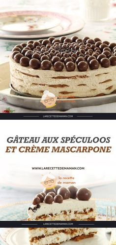 Speculoos cake and mascarpone cream . - Speculoos cake and mascarpone cream – Mom& Recipe - Cupcake Recipes, Dessert Recipes, Mascarpone Creme, Homemade Eggnog, Eggnog Recipe, Mom's Recipe, Recipe Ideas, Number Cakes, New Cake