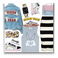 """""""Looney tunes Trend {5}"""" by wannanna ❤ liked on Polyvore featuring Milly, Casetify, Paul & Joe Sister, Sophia Webster, LOONEY TUNES, La Cartella, women's clothing, women, female and woman"""