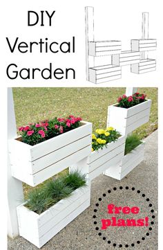 Learn how to build this vertical garden.  You only need a few simple tools.  Lots of diagrams to help with this easy build!