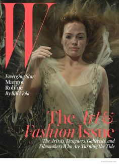 Margot Robbie Poses Underwater for W Magazine's Art Issue, photographed by Bill Viola, styled by Patrick Mackie