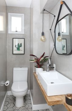 modern bathroom home decor with wall art prints - find your own favourite design today! Small Space Bathroom, Modern Bathroom, Bathroom Interior Design, Home Interior, Bathroom Inspiration, Home Decor Inspiration, Scandinavian Style Home, Design Living Room, Diy Décoration