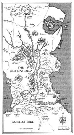 Sabriel. Garth Nix. Map. (Abhorsen Trilogy)