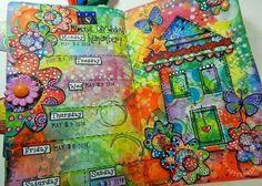 DLP, art journal, art planner, creative, mixed media
