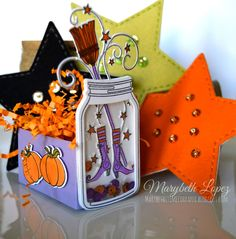 marybethstimeforpaper.blogspot.com Papertrey Ink, Friendship Jars and Fillers with Felt Stars