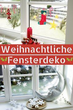 #weihnachtsdekoration muss nicht immer viel kosten! Diese #fensterdeko zu #weihnachten kostet dich nicht einmal 5 Euro!  #advent #deko #diy