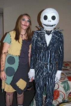 Picture of Jack Skellington & Sally costumes!