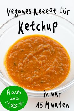 Make ketchup yourself - shelf life for 1 year - house and bed - Ketchup vegan - Make ketchup yourself – Shelf life for 1 year. You can cook this simple, vegan recipe with or wit - Girl Birthday Decorations, Canning Tomatoes, Shelf Life, Cantaloupe, Vegan Recipes, Fruit, Cooking, Healthy, Ethnic Recipes