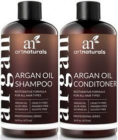 ArtNaturals Organic Moroccan Argan Oil Shampoo and Conditioner Set – x 16 Fl Oz / – Sulfate Free – Volumizing & Moisturizing – Gentle on Curly & Color Treated Hair – Infused with Keratin – Imperial Beauty Argan Shampoo, Argan Oil Hair, Hair Oil, Shampoo Alternative, Best Hair Loss Shampoo, Shampoo For Curly Hair, Oily Hair, Hair Conditioner For Men, Kinky Hair