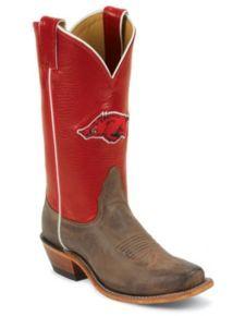 Razorback boots, University of Arkansas